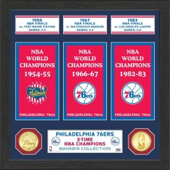 "Philadelphia 76ers ""Banner"" Bronze Coin Photo Mint"