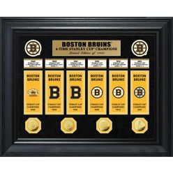Boston Bruins 6-Time Stanley Cup Champions Deluxe Gold Coin & Banner Collection