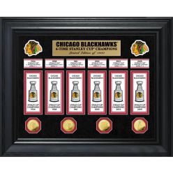 Chicago Blackhawks 6-Time Stanley Cup Champions Deluxe Gold Coin & Banner Collection