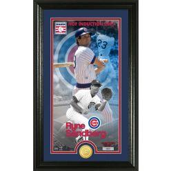 Ryne Sandberg National Baseball Hall of Fame Supreme Bronze Coin Photo Mint