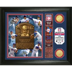 Nolan Ryan Hall of Fame Banner Bronze Coin Photo Mint