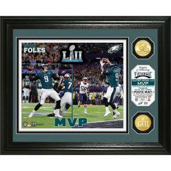 Nick Foles Super Bowl 52 MVP Bronze Coin Photo Mint