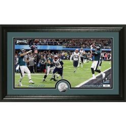 Nick Foles 4th and 1 TD Catch silver coin Photo Mint