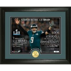 Nick Foles Super Bowl 52 Champion Quote Bronze Coin Photo Mint