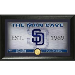San Diego Padres Man Cave Panoramic Bronze Coin Photo Mint