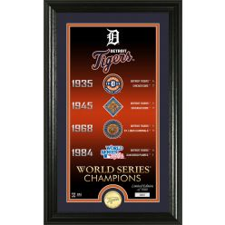 "Detroit Tigers ""Legacy"" Bronze Coin Photo Mint"