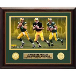 Green Bay Packers QB Legends Bronze Coin Photo Mint
