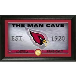 """Arizona Cardinals """"Man Cave"""" Panoramic Bronze Coin Photo Mint"""