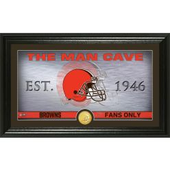 """Cleveland Browns """"Man Cave"""" Panoramic Bronze Coin Photo Mint"""