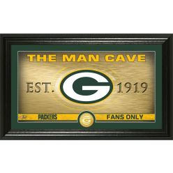 "Green Bay Packers ""Man Cave"" Panoramic Bronze Coin Photo Mint"