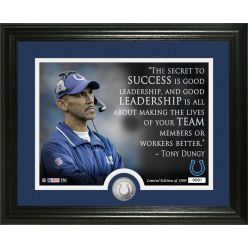 Tony Dungy Quote Silver Coin Photo Mint