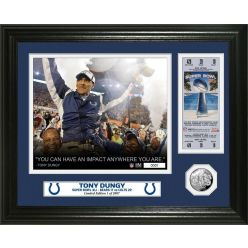 Tony Dungy Super Bowl 41 Ticket Silver Coin PhotoMint
