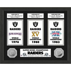 Oakland Raiders Super Bowl Banner Collection Photo Mint