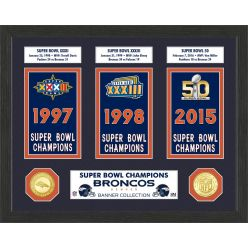 Denver Broncos Super Bowl Banner Collection Photo Mint