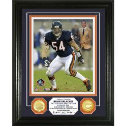 Brian Urlacher Hall of Fame Induction Day Bronze Coin Photo Mint