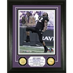 Ray Lewis Hall of Fame Induction Day Bronze Coin Photo Mint