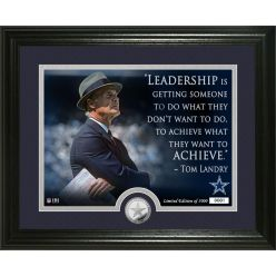 Tom Landry Quote Silver Coin Photo Mint