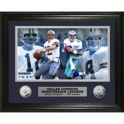 Dallas Cowboys Quarterback Legends Silver Coin Photo Mint