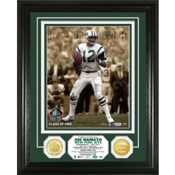 Joe Namath Pro Football Hall of Fame Bronze Coin Photo Mint
