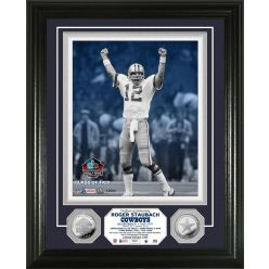Roger Staubach Pro Football Hall of Fame Silver Coin Photo Mint