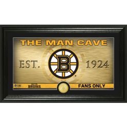 Boston Bruins Man Cave Panoramic Bronze Coin Photo Mint