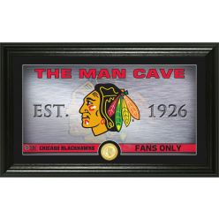 Chicago Blackhawks Man Cave Panoramic Bronze Coin Photo Mint