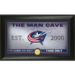 Columbus Blue Jackets Man Cave Panoramic Bronze Coin Photo Mint