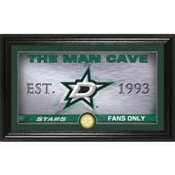 Dallas Stars Man Cave Panoramic Bronze Coin Photo Mint