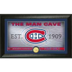Montreal Canadiens Man Cave Panoramic Bronze Coin Photo Mint