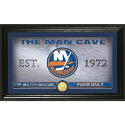 New York Islanders Man Cave Panoramic Bronze Coin Photo Mint