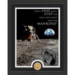 "Apollo Moon Landing ""Quote"" Bronze Coin Photo Mint"