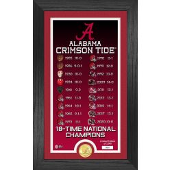 "Alabama Crimson Tide 18-Time National Champions ""Legacy"" Bronze Coin Photo Mint"