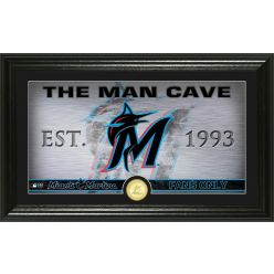 Miami Marlins Man Cave Panoramic Bronze Coin Photo Mint
