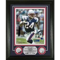Ty Law Hall of Fame 2019 Silver Coin Photo Mint