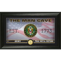 Army Flag Man Cave Bronze Coin Photo Mint