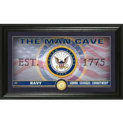 Navy Flag Man Cave Bronze Coin Photo Mint