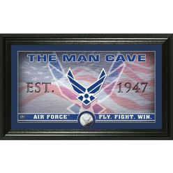 Air Force Flag Man Cave Silver Coin Photo Mint