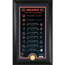 """Chicago Bears """"Legacy"""" Bronze Coin Photo Mint"""