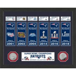 New England Patriots Super Bowl Banner Collection Photo Mint