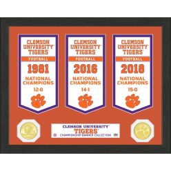 Clemson University National Champions Banner Collection Photo Mint