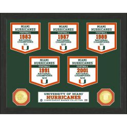 University of Miami National Champions Banner Collection Photo Mint