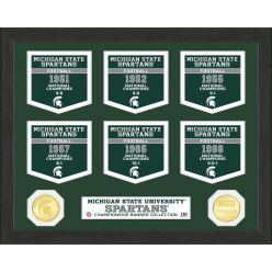 Michigan State University National Champions Banner Collection Photo Mint