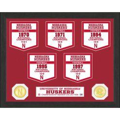 University of Nebraska National Champions Banner Collection Photo Mint