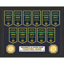 University of Notre Dame National Champions Banner Collection Photo Mint