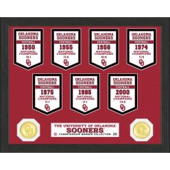 University of Oklahoma National Champions Banner Collection Photo Mint