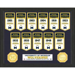 University of Michigan National Champions Banner Collection Photo Mint