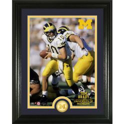 Tom Brady University of Michigan Bronze Coin Photo Mint