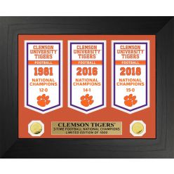 Clemson University Tigers National Champions Deluxe Banner Collection