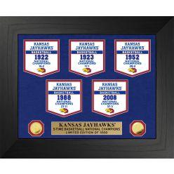 University of Kansas Jayhawks Basketball National Champions Deluxe Banner Collection