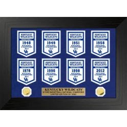 University of Kentucky Wildcats Basketball National Champions Deluxe Banner Collection
